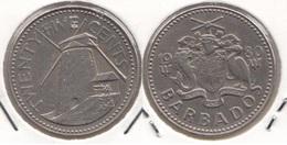Barbados 25 Cents 1980 Km#13 - Used - Barbados