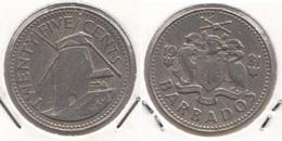 Barbados 25 Cents 1981 Km#13 - Used - Barbados