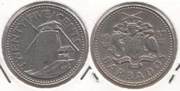 Barbados 25 Cents 1987 Km#13 - Used - Barbados