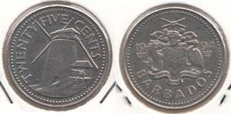 Barbados 25 Cents 1994 Km#13 - Used - Barbados