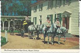 United States > VA - Virginia - Mount Vernon - The Power Coach At West Front,horses - Etats-Unis