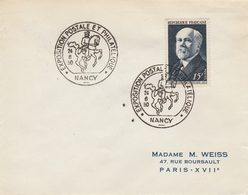 OBLIT.  EXPO. PHILAT.  NANCY  6/1950 - Marcophilie (Lettres)
