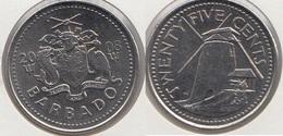 Barbados 25 Cents 2008 Km#13 - Used - Barbados