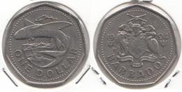 Barbados 1 Dollar 1994 Km#14.2 - Used - Barbados