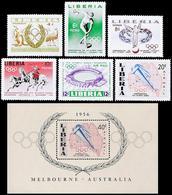 ** Liberia - Olympic Games 1956 - Mi. 498-03, Bl. 10 - Sommer 1956: Melbourne