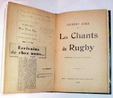 """LES CHANTS DU RUGBY Par Gilbert SORE, 1926. Exemplaire """"truffé"""". Voir 7 Photos. - Livres, BD, Revues"""