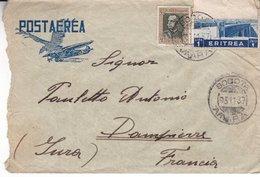 Post Aerea  Eritrea 1937 Scann Recto Verso - Eritrea