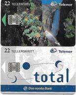 @+ Norvège - Lot De 2 Telecartes à Puce (lot 2) - Norvège