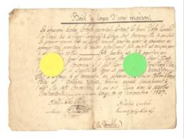 Bail De Location Entre Nicolas Corbelle, Maréchal-ferrant Et Henri Deby, Tisserant - HEUSY ( Verviers ) 1837 - Manuscripts