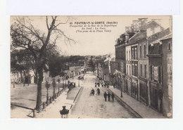 Fontenay Le Comte. Vendée. Perspective De La Rue De La République. Au Fond: La Gare. (2739) - Fontenay Le Comte