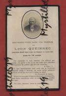 Faire-part De Décès - (1924) Memento Monsieur Louis Queinnec - Obituary Notices