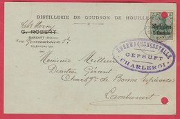 Ransart - Distillerie De Goudron De Houille ... Carte Publicitaire - 1915 ... Cachet Allemand ( Voir Verso ) - Charleroi