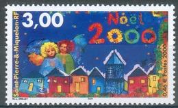 Saint Pierre And Miquelon, Christmas, 2000, MNH VF - St.Pierre & Miquelon