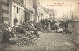TRIAGE DES HUITRES SUR LE PORT - Granville