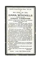 D 173. EMMA  WINCKELS  Echtg. E. Parmentier - °THIELT 1865 / +MEENEN 1922 - Images Religieuses
