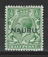 Nauru SG 13, Mi 1 II * MH - Nauru