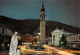Cartolina Valdobbiadene Piazza Marconi Notturno - Treviso