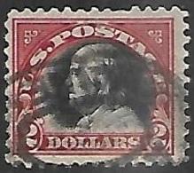 US  1920  Sc#547  $2 Franklin  Used     2016 Scott Value $40 - Etats-Unis
