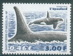Saint Pierre And Miquelon, Killer Whale (Orcinus Orca), 2001, MNH VF - St.Pierre & Miquelon