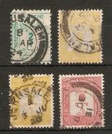 PALESTINE 1923 - 1928 POSTAGE DUES SG D2, D7, D13, D16 FINE USED Cat £14+ - Palestine