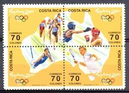 Costa Rica - 2000 - Yt 674/677 - J.O. De Sydney - ** - Costa Rica