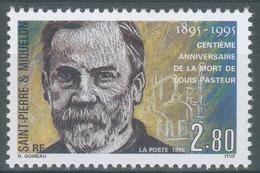 Saint Pierre And Miquelon, Louis Pasteur, French Biologist, Vaccination, 1995, MNH VF - St.Pierre & Miquelon