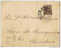 28449. Carta MADRID 1895. Fechador Puente Standard - Cartas