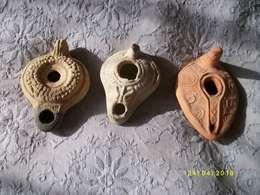 Lot De 3 Lampes à Huile - Archaeology