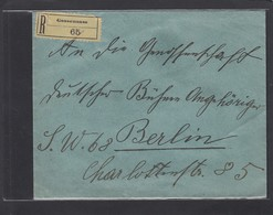 EINGESCHRIEBENER BRIEF VON GOSSENSASS NACH BERLIN,1915. - Briefe U. Dokumente