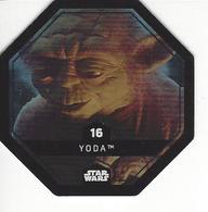 JETON LECLERC STAR WARS   N° 16 YODA  Brillante - Power Of The Force