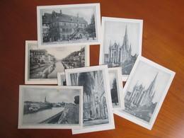 LOT DE 20 CARTES DE  STRASBOURG . MULHOUSE. METZ . AVEC AU DOS PUBLICITE  CLOT - Cartes Postales