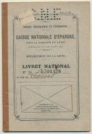 1938, Livret CAISSE NATIONALE D´EPARGNE, Département De La Seine, Vanves, Régine-Jacqueline Louvel, Enseignante - Bank & Insurance