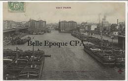75 - TOUT PARIS 19 - #881 - Bassin De La Villette / PÉNICHES ++++ Coll. F. FLEURY ++++ 1906 ++++ RARE - Arrondissement: 19