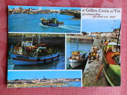 Dep 85 , Cpm  SAINT GILLES-CROIX DE VIE , Multivues , Promenades .. Peche En Mer , 85.820  (12.1045) - Saint Gilles Croix De Vie