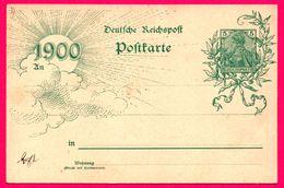 Entier Postal - Allemagne - 5 Reichspost - Deutsche Reichspost - Timbre Imprimé - Soleil - 1900 - Rayons - Allemagne