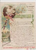 Charles Verneau , Chromo Lithographie. Affiches .Rue Oberkampf, Paris. Belle Illustration Art Nouveau - Imprimerie & Papeterie