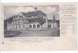 Gasthaus Hochwaldhausen - Bei Ilbeshausen -  Beschreibung -  (wz-L-3-328) - Vogelsbergkreis