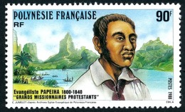 POLYNESIE 1988 - Yv. 319 **   Faciale= 0,76 EUR - Grands Missionnaires Protestants : Papeiha  ..Réf.POL23431 - Französisch-Polynesien