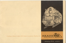 Catalogue AKANE MODELS 1962 Hand-Crafted HO USA Steam Locomotives Fulgurex - Books And Magazines