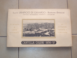 CAMPIONARIO DI LANE CARTELLA  COLORI 1956-1957 DEL LANIFICIO DI GAVARDO BOSTONE BRESCIA - Oude Documenten