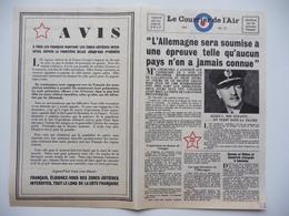 WWII WW2 Tract Flugblatt Propaganda Leaflet In French, PWE F Series/1942, F.70, Le Courrier De L'Air No.21 - Oude Documenten