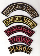 LOT BANANE BANDE BRAS ARMEE FRANCAISE COLONIE AFRIQUE A VOIR ...... - Patches