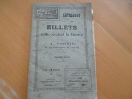 Catalogue Des Billets émis Pendant La Guerre A.Forbin Anoté BE RV - Francés