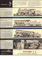 Catalogue AKANE MODELS 1963 Hand-Crafted HO USA Steam Locomotives Fulgurex + Preisliste CHF - Books And Magazines