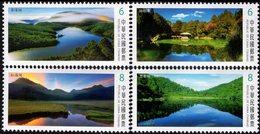 Taiwan - 2018 - Alpine Lakes Of Taiwan - Mint Stamp Set - 1945-... Republiek China