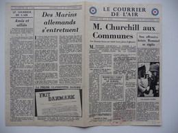 WWII WW2 Tract Flugblatt Propaganda Leaflet In French, PWE F Series/1942, F.126, Le Courrier De L'Air, 10 Septembre 1942 - Oude Documenten