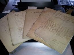 FRESNES S/ESCAUT - Seigneurie D'Escaupont - 2 Doc. Chirographes  1743 Et 3 Contrats Achat De Terre 1780 - Historical Documents