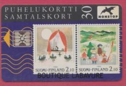 FINLANDE--TELECARTE A Puce SC5 30---Representation De Timbres- - Finlande