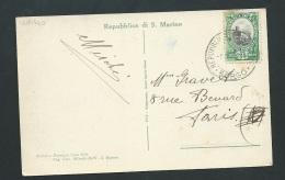 "Cpa  Di San Marino ""Terza Torre "" Affranchie Au Dos En 1934 Par Yvert N° 145 -  Zba49 - Saint-Marin"