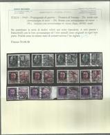 ITALIA REGNO ITALY KINGDOM REPUBBLICA SOCIALE RSI1944PROPAGANDA DI GUERRA FASCIO DOPPIO SERIE COMPLETA USATA CERTIFICATO - 4. 1944-45 Repubblica Sociale